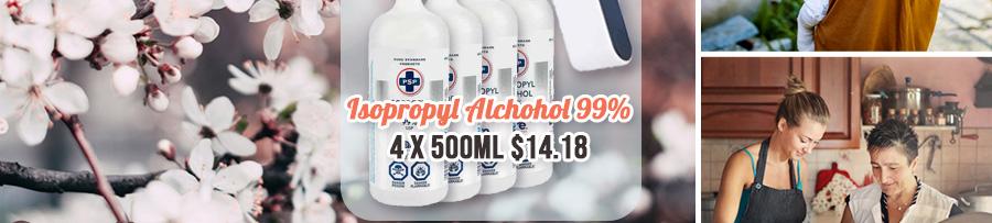 Isopropyl Alchohol 99% - 4 pack $14.18